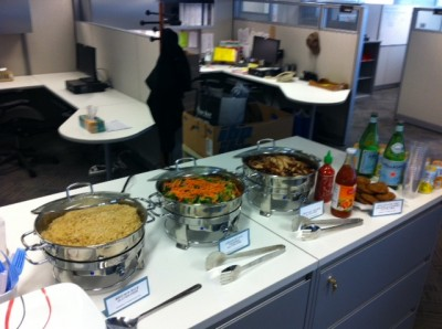 Buffet style lunch at NW Natural Gas downtown office